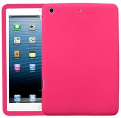 """Amazon.com: Grapefruit Pink {Matte Modern Plain} Soft and Smooth Silicone Cute 3D Fitted Bumper Back Cover Gel Case for iPad Mini 1, 2 and 3 by Apple """"Durable and Slim Flexible Fashion Cover with Amazing Design"""": Computers & Accessories"""