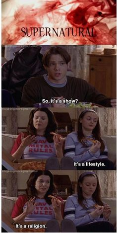 When Gilmore Girls and Supernatural worlds collide :)