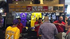 The Staples Center sold $1.2 million worth of Kobe Bryant merchandise during his final game Wednesday, breaking the single-day arena record set by Led Zeppelin in 2007.