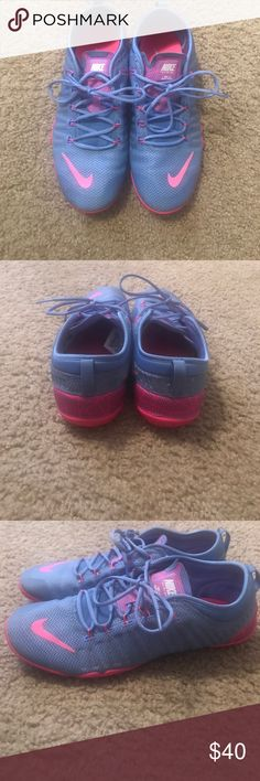 Nike Training Free 1.0 Cross Bionic sneakers Gently used like new purple & pink cross training nikes- bought from a posh marker and just don't wear them as often as I'd like. Super comfy & light Nike Shoes Athletic Shoes