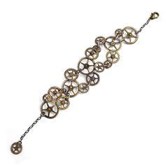 Gears Bracelet No.3 Brass by Graiela Fuentes