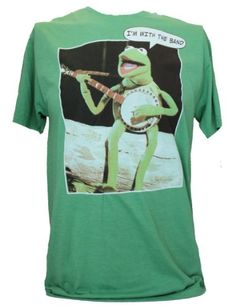 """The Muppets Mens T-Shirt - """"I'm With The Band"""" Kermit Image (Medium) Green IN MY PARENTS BASEMENT,http://www.amazon.com/dp/B00CS9AW68/ref=cm_sw_r_pi_dp_O.i6rb1DHWCYYB50"""
