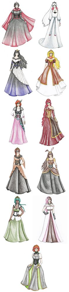 RWBY Princess Collection by Very-Crofty.deviantart.com on @DeviantArt