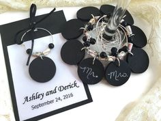 Travel Wedding Theme Favors, Chalkboard Wine Charms With Map Paper Beads, Travel Themed Wedding Favors, Map Wedding, Map Wine Glass Charms by AtHomeWithWords on Etsy https://www.etsy.com/listing/465440621/travel-wedding-theme-favors-chalkboard