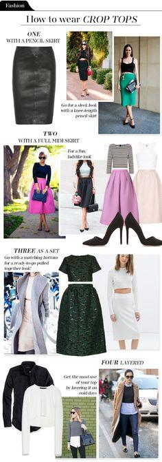 4 Ways To Wear a Crop Top