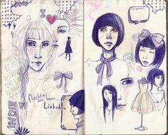 Sketchbook Project page 24-25 by Waldmaer on deviantART