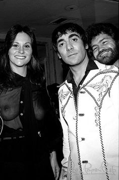 Keith Moon, Micky Dolenz, Linda Lovelace   Los Angeles, California  8/23/1976