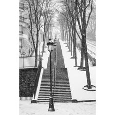 Paris Photography, Snowy morning in Montmartre, winter photography,... (205 HRK) ❤ liked on Polyvore featuring backgrounds, pictures and images