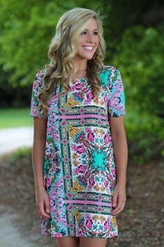 Lavish Boutique  - Shot Of Color Shift Dress: Multi, $36.00 (http://lavishboutique.com/shot-of-color-shift-dress-multi/)
