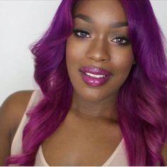 Purple Hair : Destiny Godley. Love it