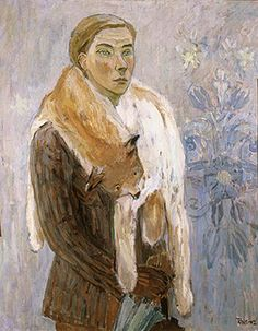 Self Portrait (Lynx Boa), 1942 by Tove Jansson on Curiator, the world's biggest collaborative art collection. Lynx, Dulwich Picture Gallery, Selfies, Tove Jansson, Miss Moss, Kunst Online, Weird Creatures, Helsinki, Art Museum