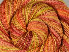Handspun Yarn, Fine Fingering Weight - MOJAVE SUNRISE - Handpainted Bluefaced Leicester wool, 485 yards, gift for knitter, weaving yarn by BlackSheepGoods on Etsy