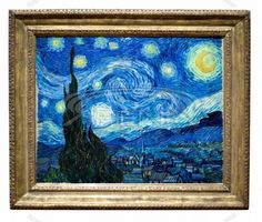 the famous starry night painting by vincent van gogh