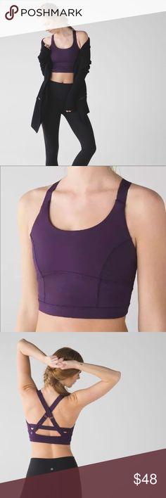 4e0a0a721 Lululemon Sz 6 Pure Practice Long Line Sports Bra Lululemon Size 6 Pure  Practice Purple Long