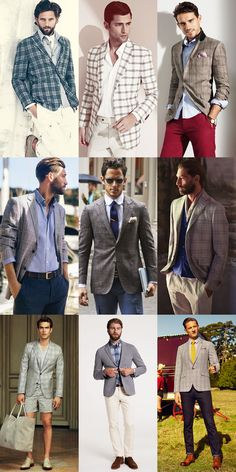 Men's Checked Blazer Spring/Summer Outfit Inspiration Lookbook