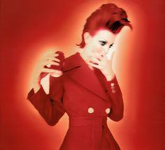 Sibyl Buck - polaroid - fashion magazine - rock n roll red hair - nicolas jurnjack -hair archives - shot in paris at studio elle in early 90'  hair : nicolas jurnjack, model : sybil buck, make up : charlie green.  https://www.pinterest.com/NICOLASJURNJACK/ + Nicolas Jurnjack Hair Archive