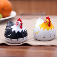 High Quality Kitchen Clock Timer Kitchen Cooking Countdown White Hen Lovely Shape Mechanical Countdown Timer Random Color