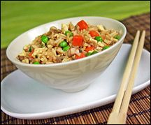 Hungry Girl Fried Rice- made this tonight and Russ and I both LOVED it!! Only 3 WW points/serving which is 1 cup!