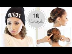 10 Easy Fall / Winter Hairstyles for Curly Hair - YouTube