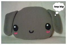 Large Plush Bunny Cushion by riaherod