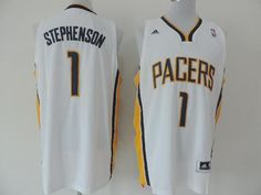 df3059a10 Adidas NBA Indiana Pacers 1 Lance Stephenson New Revolution 30 Swingman  Home White Jersey