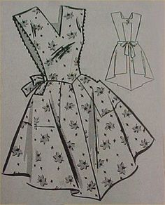 SALE-Vintage-Bib-Apron-Full-Size-Pattern-Best-X-LARGE-50s-Sewing-Fabric-Project