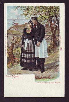 Deutschland Ansichtskarte - Insel Rügen - Tracht - Paar  ca. 1920
