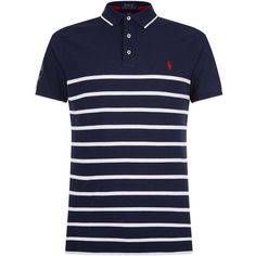 Polo Ralph Lauren Wimbledon Polo Shirt (1.446.500 IDR) ❤ liked on Polyvore featuring men's fashion, men's clothing, men's shirts, men's polos, mens sport shirts, mens striped polo shirts, mens sports t shirts, mens sports polo shirts and polo ralph lauren mens shirts