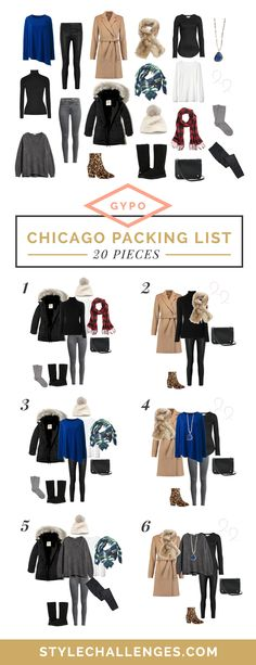 722149a2ae A Chicago packing list and outfits for a winter weekend - includes a 20  piece packing