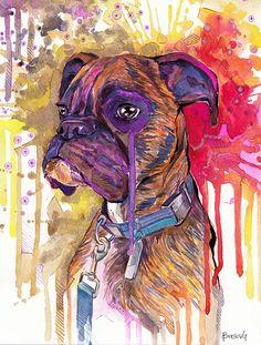 Custom Dog Portrait Painting Portrait Watercolor Painting  Dog Art Pet Lover Gift Pet Portrait _ Custom Portrait by BasovaArt on Etsy https://www.etsy.com/listing/192706405/custom-dog-portrait-painting-portrait