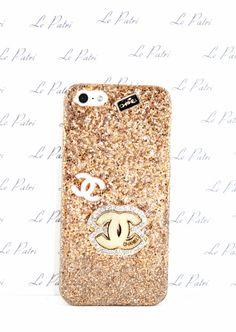 Gold Ombre Designer Style Glitter Bling Phone Case by LePatri