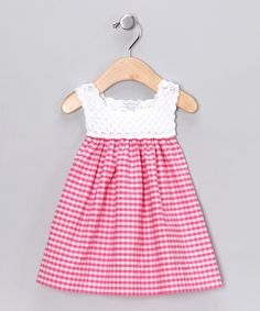 Loving this Fuchsia Analee Crocheted Dress - Infant on #zulily! #zulilyfinds