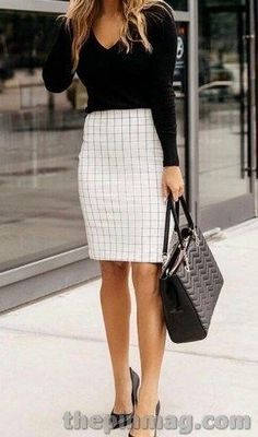 Business Professional Outfits, Business Casual Outfits For Women, Stylish Work Outfits, Fall Outfits For Work, Work Casual, Cute Outfits, Spring Outfits, Summer Business Outfits, Business Casual Skirt