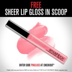 You found the code, success! Just enter PINGLOSS with any $ 25 Smashbox.com purchase to make this yours!
