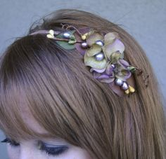 Woodland flower headband for women. $30.00, via Etsy.