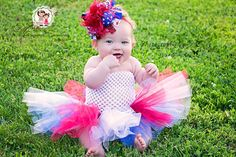 baby girl Fourth of July tutu outfit