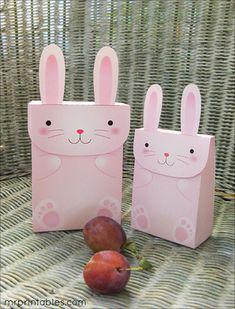 free printable party favors bunny bag 1
