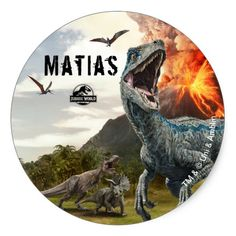 Jurassic World Dinosaur Birthday Thank You Classic Round Sticker , Park Birthday, Dinosaur Birthday Party, Boy Birthday, Jurassic World Dinosaurs, Jurassic Park World, Festa Jurassic Park, Falling Kingdoms, Birthday Thank You, Thank You Stickers