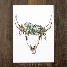 ----- Watercolor + Ink Print on 60lb Canvas Paper Signed + by the Artist Becca Stevens @freedomrise
