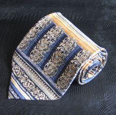 Mens Silk Necktie Geometric Tesoro Rosso Tie Vintage