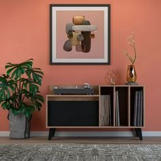 Record Player Cabinet, Chill Out Room, Vynil, Rack Tv, Studio Table, Vinyl Room, Muebles Living, Vinyl Record Storage, Dressing Room Design