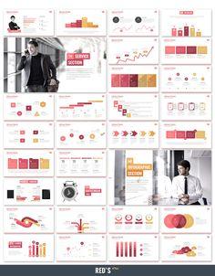 Red's Plus - Creative Keynote Template by SlideWerk on Envato Elements