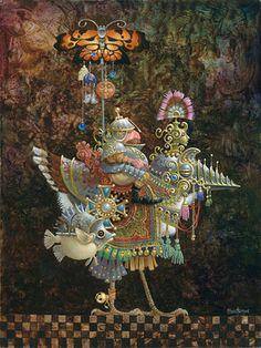 """James Christensen, """"Butterfly Knight"""""""