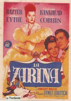 Programa de Cine - La Zarina