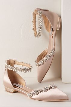 4ee015bc934a5 BHLDN s Badgley Mischka Badgley Mischka Vivien Flats in Neutral Blush  Wedding Shoes