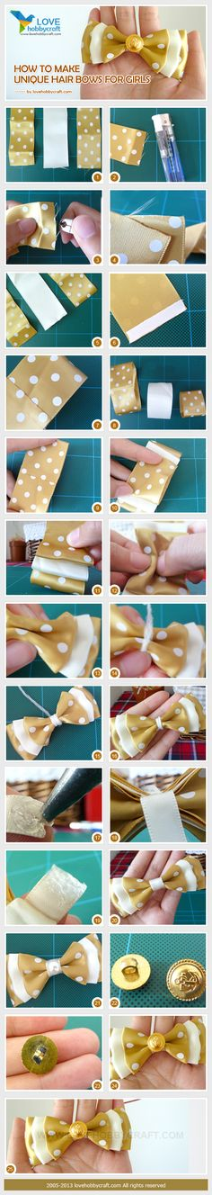 how to make unique hair bows for girls