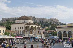 Plac Monastiraki City Architecture, Taj Mahal, Building, Cities, Travel, Children Playground, Athens, Viajes, Buildings