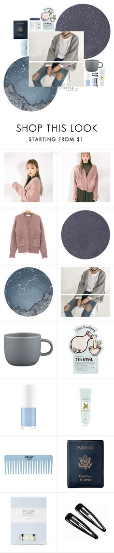 """""""Cardigan Outfit #1"""" by dreamy-darling ❤ liked on Polyvore featuring chuu, Tom Ford, Oaksa, CB2, Tony Moly, Royce Leather, Laura Ashley, Clips and Splendid"""