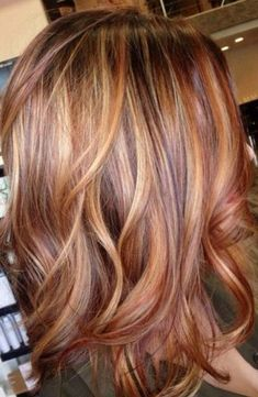 Hair Color Red And Blonde Rose Gold Super Ideas Haarfarbe Rot und Blond Rose Gold Supe Brunette With Lowlights, Brown To Blonde Balayage, Blonde Hair With Highlights, Copper Blonde, Golden Blonde, Fall Blonde, Gold Highlights, Blonde Ombre, Auburn Blonde Hair