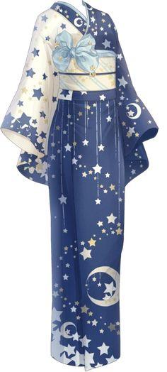 【Miracle Niki】 Yukata with dress starry sky pattern Yukata, Cosplay Outfits, Anime Outfits, Fashion Outfits, Drawing Anime Clothes, Dress Drawing, Fashion Design Drawings, Fashion Sketches, Mode Kimono
